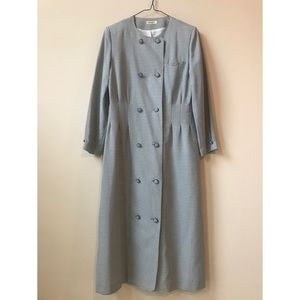 60s, 60s vintage b&w dress trench coat from Tokyo